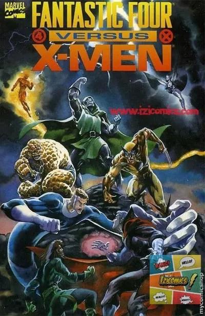 Ver Comics X-men vs los 4 Fantasticos
