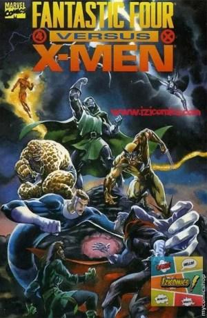 VerComics X-men vs los 4 Fantasticos