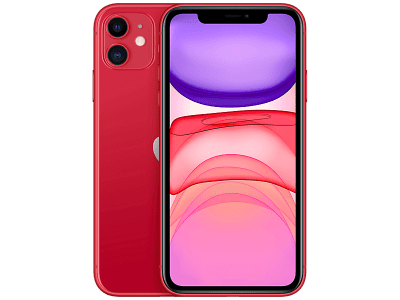 Apple iPhone 11 Red with Apple Airpods