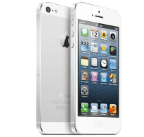 Apple iPhone 5S Silver with Laptop