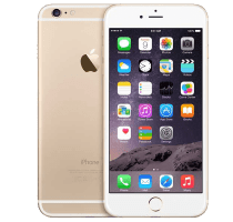 Apple iPhone 6 Gold with Samsung Galaxy Tab A 9.7