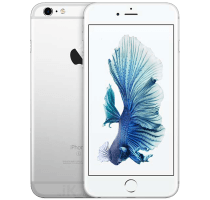 Apple iPhone 6S Silver with 32 inch LG HD TV