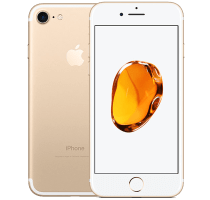 Apple iPhone 7 Gold with Samsung Galaxy Tab A 9.7