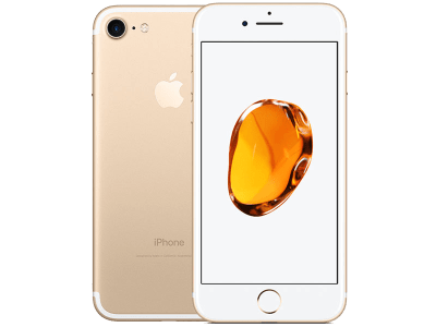 Apple iPhone 7 Gold with Sony SRS-XB2 Speaker