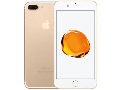 Apple iPhone 7 Plus Gold with Sony SRS-XB2 Speaker