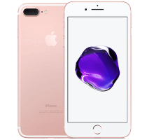 Apple iPhone 7 Plus Rose Gold with Laptop