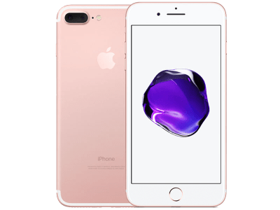 Apple iPhone 7 Plus Rose Gold with Samsung Galaxy Tab A 9.7