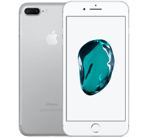 Apple iPhone 7 Plus Silver with Amazon Echo Dot