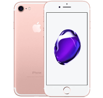 Apple iPhone 7 Rose Gold with Laptop