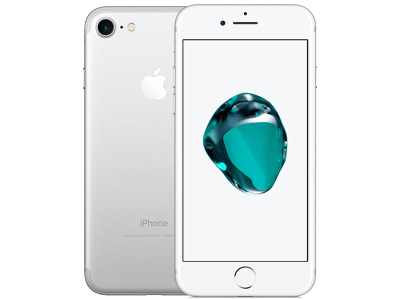 Apple iPhone 7 Silver with Sony SRS-XB2 Speaker