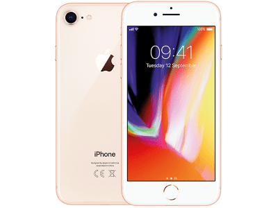Apple iPhone 8 Gold with iPad and Tablet