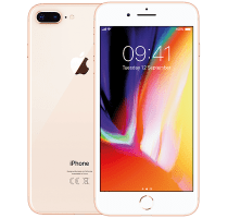 Apple iPhone 8 Plus 256GB Gold with 49 inch LG LED Smart TV
