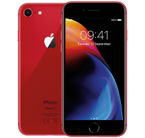 Apple iPhone 8 Red with Laptop