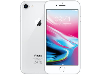 Apple iPhone 8 Silver with iPad and Tablet