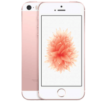 Apple iPhone SE Rose Gold with Television