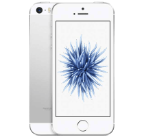 Apple iPhone SE Silver with GHD Hair Straighteners
