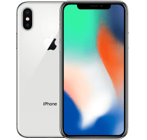 Apple iPhone X Silver with Fitbit Flex Band