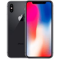 Apple iPhone X with Samsung Galaxy Tab E 9.6