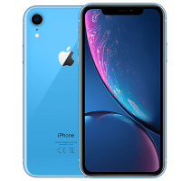 Apple iPhone XR Blue with iPad and Tablet