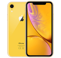 Apple iPhone XR Yellow with iPad and Tablet