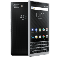 Blackberry Key2 Silver with Samsung Galaxy Tab A 9.7