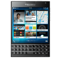 Blackberry Passport with 49 inch LG LED Smart TV