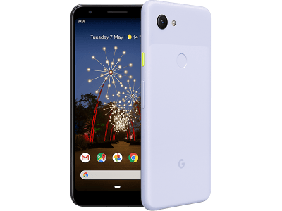 Google Pixel 3a Purple with Amazon Fire 8 8Gb Wifi