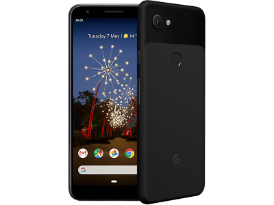 Google Pixel 3a XL with Laptop