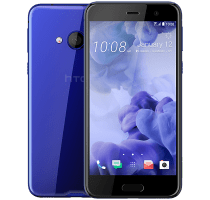 HTC U Play Blue with Dell Chromebook