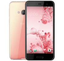 HTC U Play Pink with Google Home