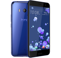 HTC U11 Blue with iT7s2 Sport Bluetooth Headphones