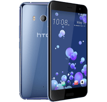 HTC U11 Silver with iPad and Tablet