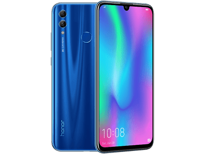 Huawei Honor 10 Lite Blue with iPad and Tablet