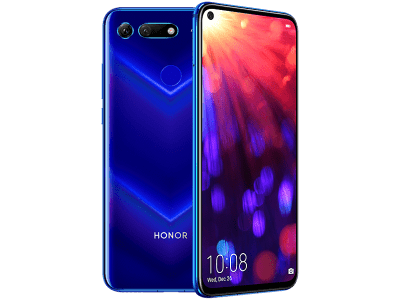 Huawei Honor View 20 Blue with iPad and Tablet