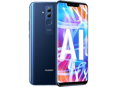 Huawei Mate 20 Lite Blue with iPad and Tablet