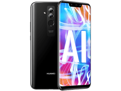 Huawei Mate 20 Lite with Laptop