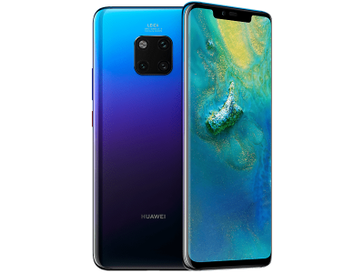 Huawei Mate 20 Pro Twilight with iPad and Tablet