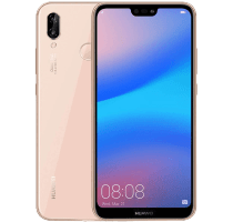 Huawei P20 Lite Pink with Laptop