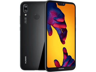 Huawei P20 Lite with Laptop