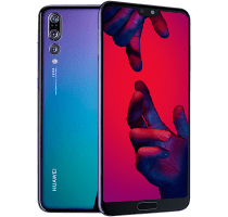 Huawei P20 Pro Twilight with Laptop