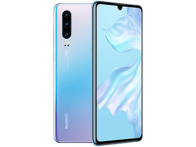 Huawei P30 128GB Crystal with iPad and Tablet