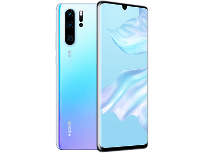 Huawei P30 Pro 128GB Crystal with iPad and Tablet