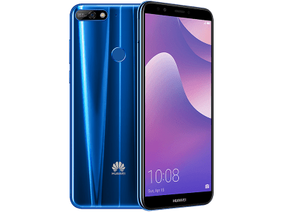 Huawei Y7 Blue with Television