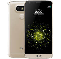 LG G5 SE Gold with Alcatel Pixi 3