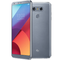 LG G6 Silver with Alcatel Pixi 3
