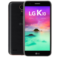 LG K10 2017 with Laptop