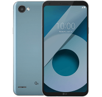 LG Q6 Silver with iPad and Tablet