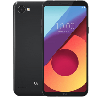 LG Q6 with Laptop