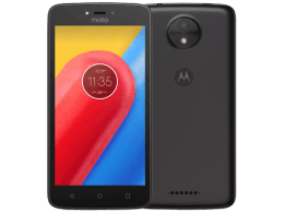 Motorola Moto C with Laptop
