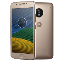 Motorola Moto G5 Gold with Wearable Teachnology